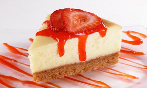 cheese cake morango
