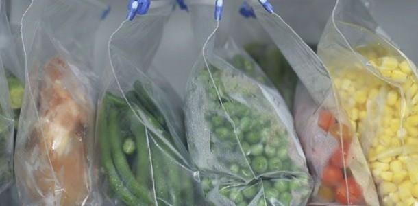 Congelando-verduras